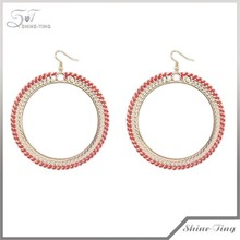 Occident style exaggerated personality contracted woven big hoop earrings for women