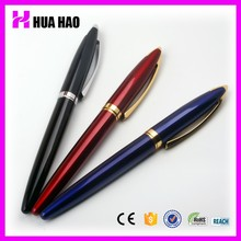 2015 custom branded metal roller pen with logo, roller ball pen with logo print metal