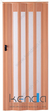 Double wing collapsible doors bathroom wooden with glass
