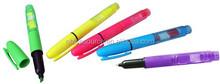 plastic highlighter/ballpen