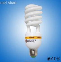 65watt high lumen half spiral CFL with T4 glass tube and PBT base energy saving light fluorescent light