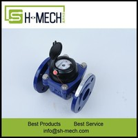DN100 high performance ductile iron woltman industrial cold water meter