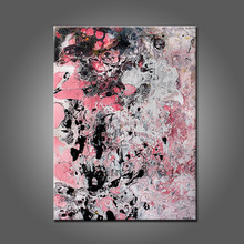 Skilled Artist Design Beautiful Wall Handmade Artwork Pink And Black Abstract Oil Painting On Canvas For Friends Unique Gifts