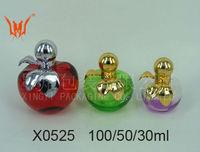100/50/30ml Apple shaped perfume glass bottles Set for Sale
