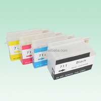 Empty 711BK C M Y Refillable Ink Cartridge with chip For 711 HP deskjet T120 T520Printer