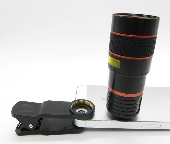 Universal Clip Camera Mobile Phone 8x Optical Zoom Lens ...