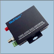 Fiber Optic Video & Date Transmission for PTZ Camera 1-CH Video+1 Return Data Over Fiber