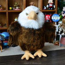 Stuffed Sitting High 23cm Sea Eagle/Plush Sea Eagle Toy with White Head/Lifelike Sea Eagle Plush toy
