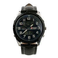 New Digital Vogue Watch Mens Man Black Face Army Military Leather Sport Watch