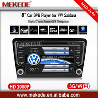 8 Inch Car DVD Player For Volkswagen/VW Santana(2013-2014) with Radio Bluetooth GPS Navi