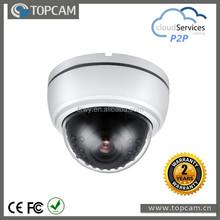 1 Megapixel CMOS IP dome camera Plastic IR Camera 2.8-12mm 3.0Megapixel varifocal ICR lens
