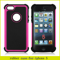 Big sales promotion hot sell 3 in 1 football pattern hybrid case for iphone 5 universal combo moilbe phone cover