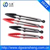 factory price Stainless Steel 9 inch 12 inch Silicone Kitchen Food tong/ bbq tong