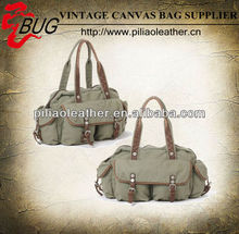 2014 spring summer fashion bag/canvas handbag with multi-pockets