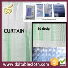 3d EVA extra long double swag shower curtain with hookless