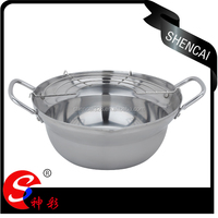 2014 New Product Stainless Steel Fryer / Camping Pot / Picnic Cookware