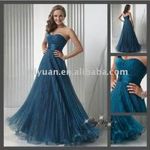 sweetheart blue sleeveless ball gown prom dress