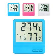 Feilong Leegoal LCD Display Temperature and Humidity Meter with Alarm Clock Hygrometer