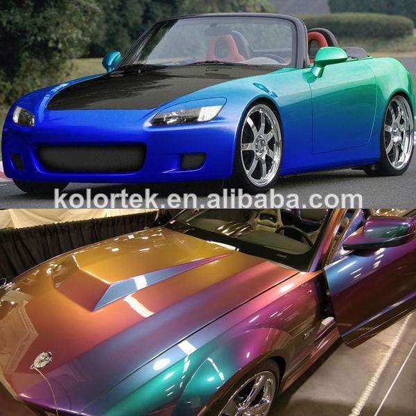 Chameleon color change paint pigment for car dip view for Car paint color changing