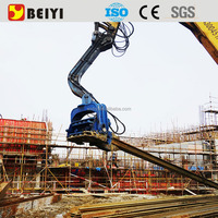 Piling machine hydraulic vibratory hammer pile driver for excavator