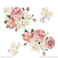 Custom Latest Design CMYK Artical Rose Temporary Safety Tattoo Sticker for Lady