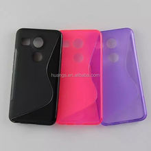 New products 2015 innovation product S line glossy TPU soft back cover case for lg nexus 5 s line case wholesale