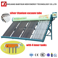 2016 Babysun new G4 compact low pressure solar water heater system with 4 inner tank, solar geyser