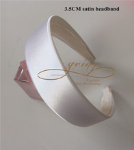 White headband for making a fascinator,3.5cm satin headband