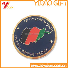 High quality coin with custom map and personalized logo