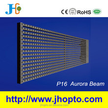 installation structure contained outdoor 1500mm* 250mm 64*16 dots p16 led mesh grid video screen