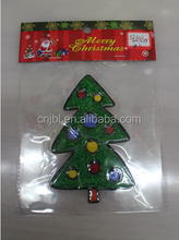 Promotion Silica Gel Christmas Tree Sticker Glass Shop Window Wall Art For Christmas Indoor Home Decoration