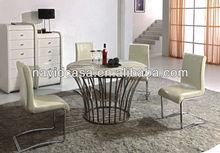 Modern toptan Antik Beyaz mobilyaları yuvarlak masa