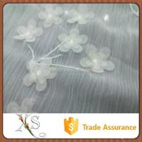 High Quality Chiffon Laser Cut Flower Embroidery Fabric