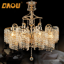 wholesale 8 E14 cristal lights chinese spiral waterfall pendant chandelier crystal light
