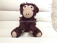 Eco-friendly Stuffed Crochet Monkey Toy crochet stuffed toys