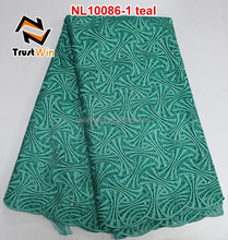 new product embroidered tulle textile french lace tulle lace african dress material NL10086 teal