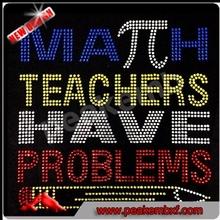 Hot Fix Rhinestones Teachers Have Problems Rhinestone Applique Iron on for Clothes
