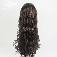 German Lace Streaked Color Braizlian Hair Curly Wig for Black Women