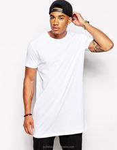custom bulk long line white blank men's plain t-shirts 2016