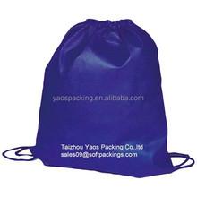 high quality eco drawstring bag, reusable bag, promotional backpack bag,