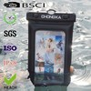waterproof bag for iphone 4/4s with ipx8 certificate with neck strap