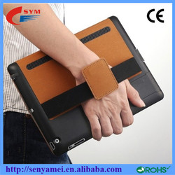 Portable Ventilate leather case for ipad 2/3/4,for ipad case with handle