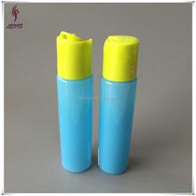 Plastic empty travel size bottles with disc cap