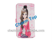For Samsung Galaxy S4 PU Leather Case for Girls
