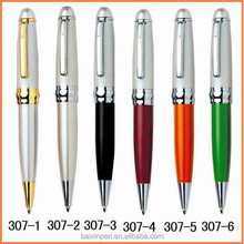 Latest popular metal customised promotional metal pen ball point pen - 307