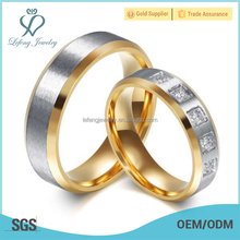 Personalized couples silver gold ring,matt ring jewelry