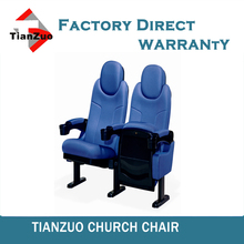 Commercial furniture theater seating with headrest