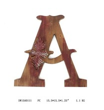 decorative wooden wall art,English letters home wall decorations, modern handmade crafts wholesale