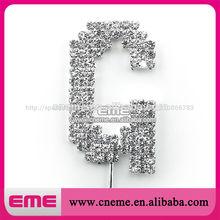 de cristal de diamante de imitación letra g adorno de torta