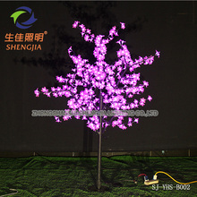 LED outdoor trunk fake plants Flowering cherry tree 1.5 metre Pink